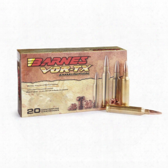 Barnes Vor-tx, 7mm Remington Magnum, Ttsx-bt, 160 Grain, 20 Rounds