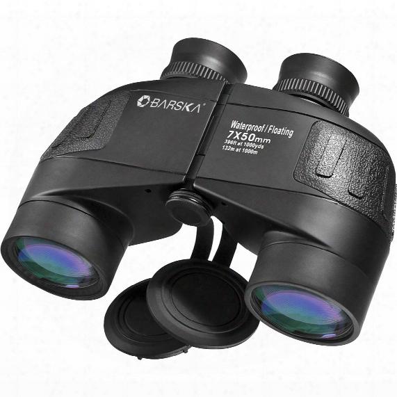 Barska 7x50 Mm Waterproof Battalion Binoculars With Rangefinding Reticle