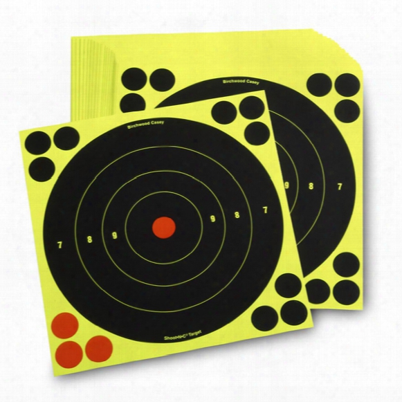 "Birchwood Casey 8"" Reactive Paper Targets, 50 Pack"