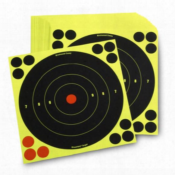 "Birchwood Casey 8"" Reactive Paper Targets, 50 Pack"