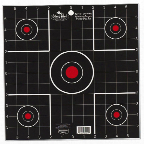 "Birchwood Casey® Dirty Bird® 12"" Sight-in Splattering Target 100-sheet Pack"