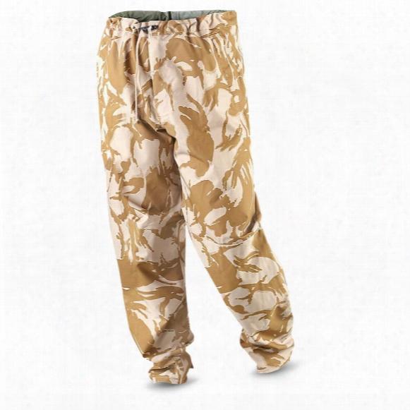 British Military Surplus Gore-tex Waterproof Camo Pants, New