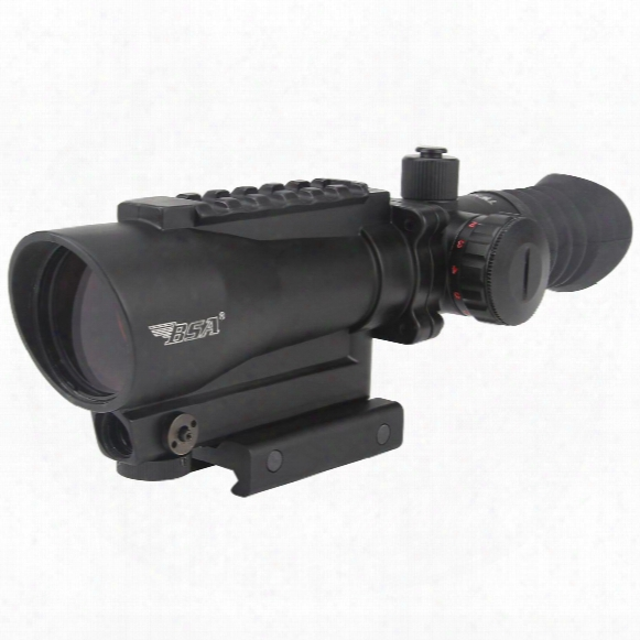 Bsa Tactical Weapon Illuminated 30mm Red Dot Sight With 650 Nm Red Laser