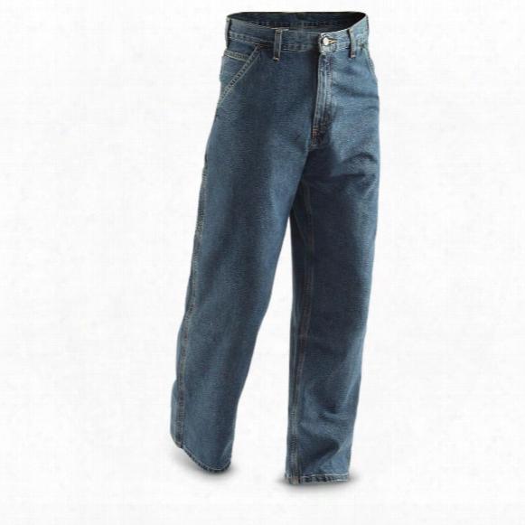 Carhartt Men's Original Fit Denim Dungaree Work Jeans, Irregular