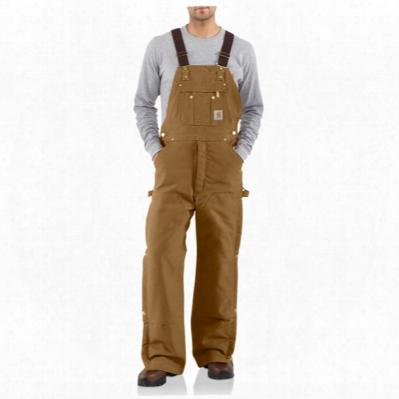 Carhartt® Duck Quilt-lined Zip-to-thigh Bib Overalls
