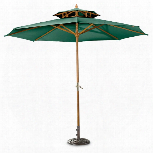 Castlecreek 10' Two Tier Market Patio Umbrella