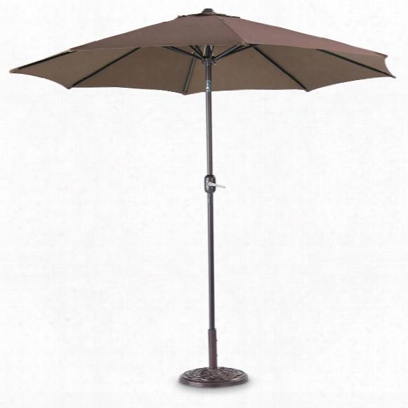 Castlecreek 9' Deluxe Market Patio Umbrella, Steel Pole