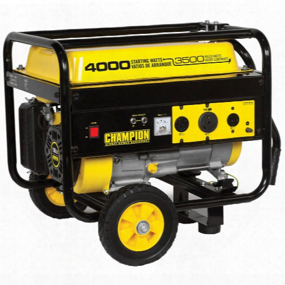 Champion Power Equipment Portable 3,500 / 4,000 - Watt Generator With Wheel Kit