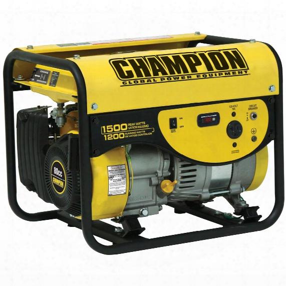Champion Power Equipment Portable Carb - Compliant 1,200 / 1,500 - Watt Gas - Powered Generator