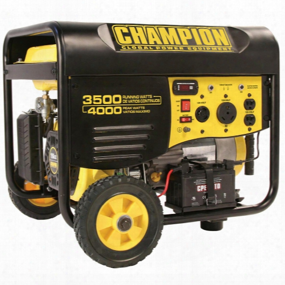 Champion Power Equipment Portable Carb - Compliant 3,500 / 4,000 - Watt Gas - Powered Remote Start Generator With Wheel Kit