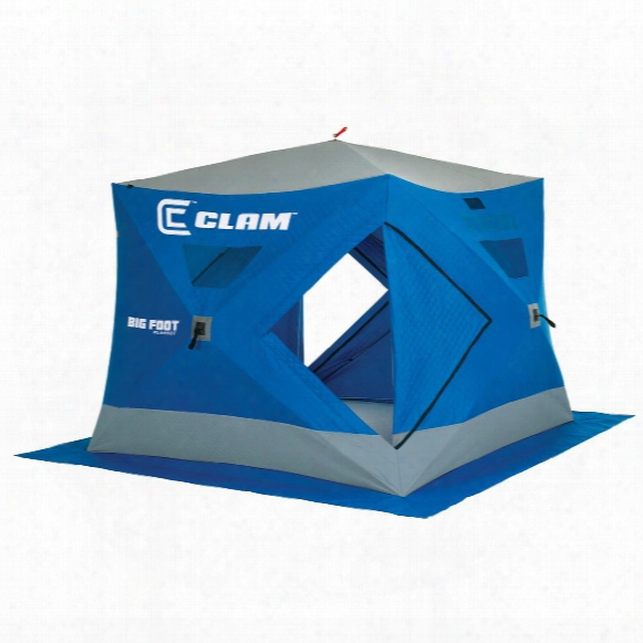 Clam Bigfoot Xl4000t Thermal 8' X 8' Pop-up 6-angler Ice Fishing Shelter
