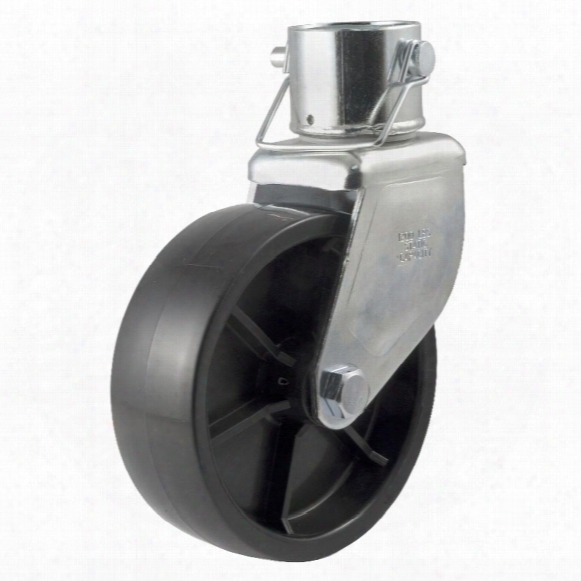 """Curt Trailer Mfg. Caster Assembly With 6x2"""" Poly Wheel, Fits 2"""" Pipe (3"""" Tall)"""
