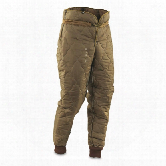 Czech Military Surplus M60 Thermal Pant Liners, 6 Pack, New