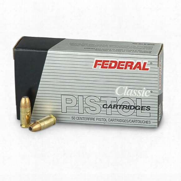 Federal Classic Hi-shok, 9mm Luger, Jhp, 115 Grain, 50 Rounds