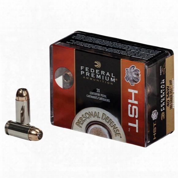 Federal Premium Personal Defense, .40 S&w, Hst, 180 Grain, 20 Rounds