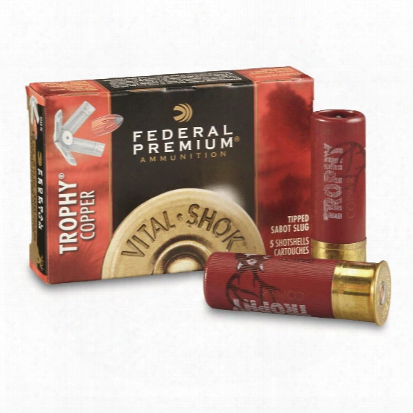 "Federal Premium Vital-shok, 12 Gauge, 2 3/4"" Shotgun Slug, 5 Rounds"