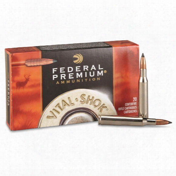 Federal Premium Vital-shok, .270 Win., Trophy Copper Bt, 130 Grain Lead Free, 20 Rounds