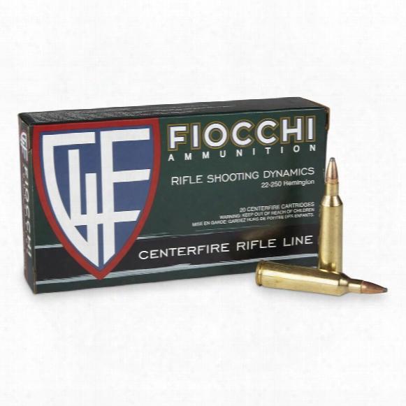 Fiocchi, .22-250 Remington, Psp, 55 Grain, 20 Rounds