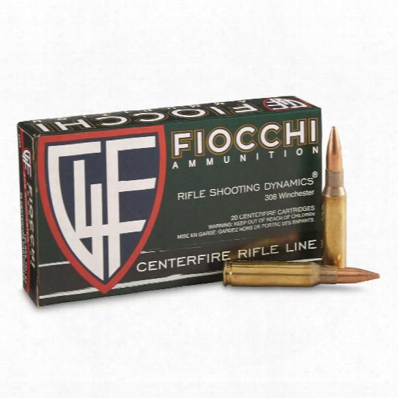 Fiocchi, .308 Win, Fmj, Rifle Shooting Dynamics, 150 Grain, 20 Rounds