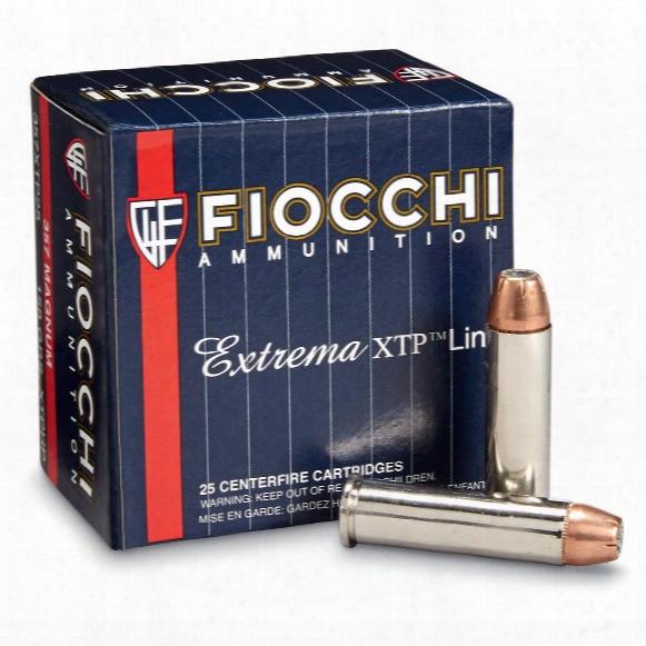Fiocchi Extrema, .357 Magnum, Xtphp, 158 Grain, 25 Rounds