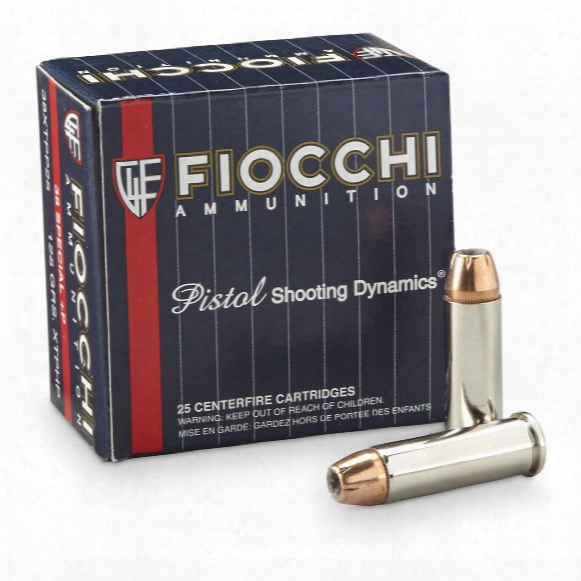 Fiocchi Extrema, .38 Special +p, Xtphp Pistol, 125 Grain, 25 Rounds