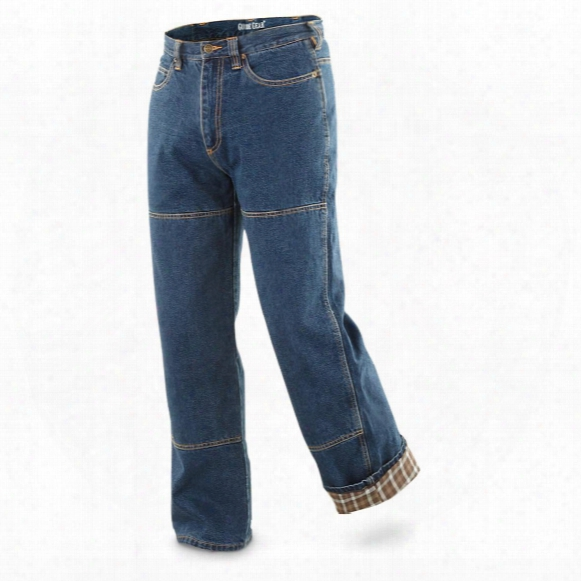 Guide Gear Men's Flannel-lined Denim Stone Wash Jeans