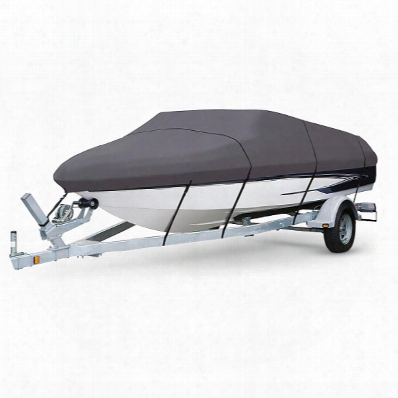Guide Gear Universal Fit Trailerable Boat Cover, 600 Denier