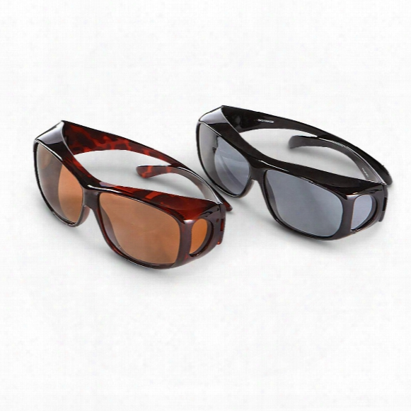 Guide's Choice Polarized Fit Over Sunglasses, 2 Pairs