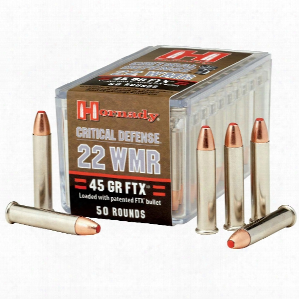 Hornady Critical Defense, .22 Wmr, Ftx, 45 Grain, 50 Rounds