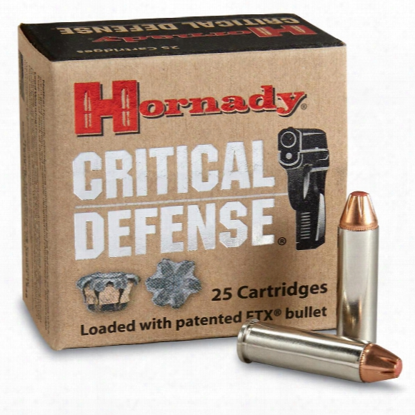 Hornady Critical Defense, .32 H&r, Magnum, Ftx, 80 Grain, 25 Rounds