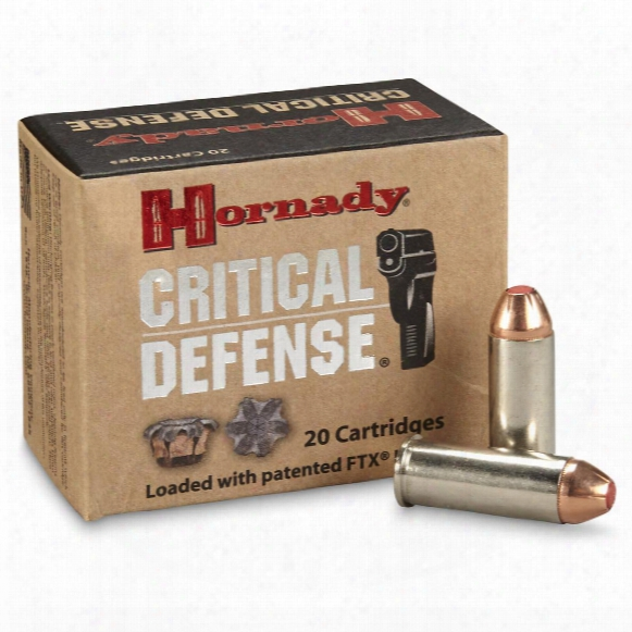 Hornady Critical Defense, .44 Special, Ftx, 165 Grain, 20 Rounds