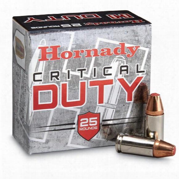 Hornady Critical Duty, 9mm Luger, Flexlock, 135 Grain, 25 Rounds