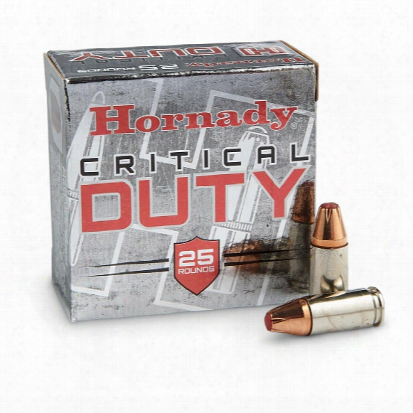Hornady Critical Duty, 9mm Luger+p, Flexlock, 135 Grain, 25  Rounds