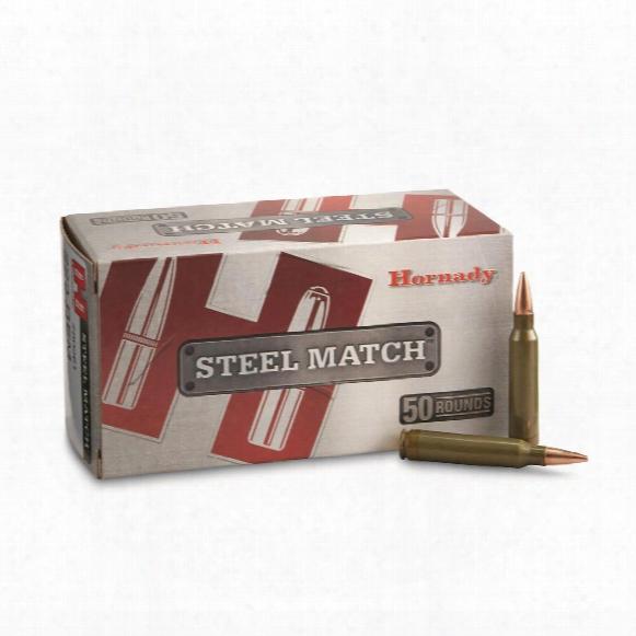 Hornady Steel Match Rifle, .223 Rem, Bthp, 75 Grain, 50 Rounds
