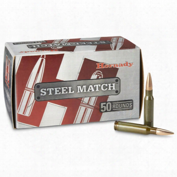 Hornady Steel Match Rifle .308 Win 155 Grain Bthp Ammo, 50 Rounds