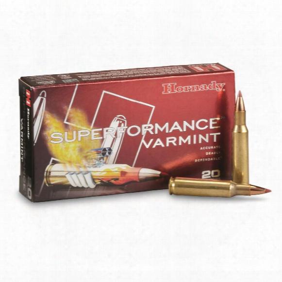 Hornady Superformance Varmint, .222 Remington, Ntx, 35 Grain, 20 Rounds