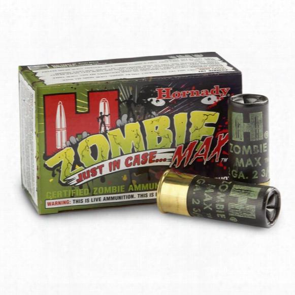 """Hornady Zombie Max, 12 Gauge, 2 3/4"""" Shells, 00 Buckshot, 10 Rounds"""