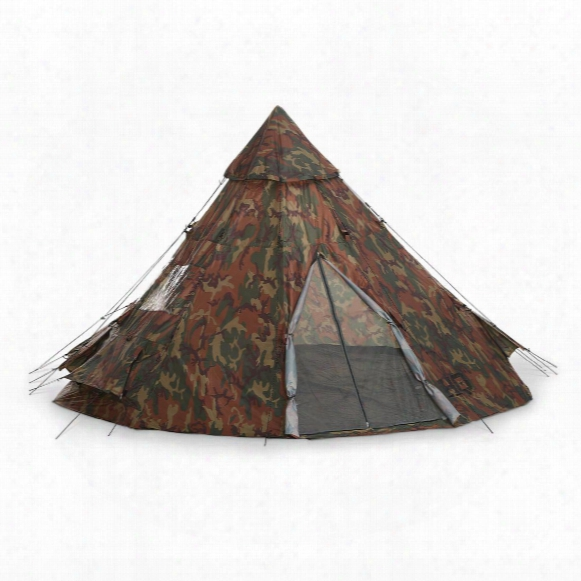 Hq Issue 10' X 10' Teepee Tent, Woodland Camo