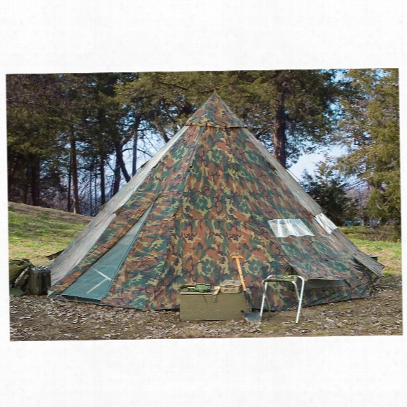 Hq Issue 18' X 18' Teepee Tent, Woodland Camo