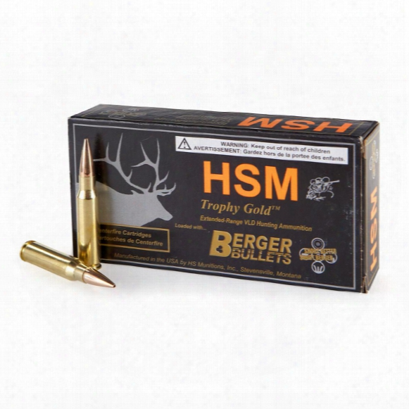 Hsm Trophy Gold, 7mm Rum, Berger Vld, 168 Grain, 20 Rounds