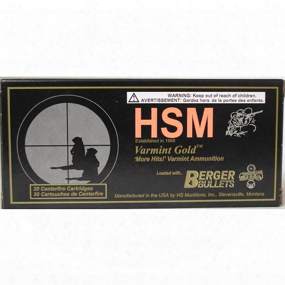 Hsm Varmint Gold .223 Rem 55 Grain Mvfb Rifle Ammo, 20 Rounds