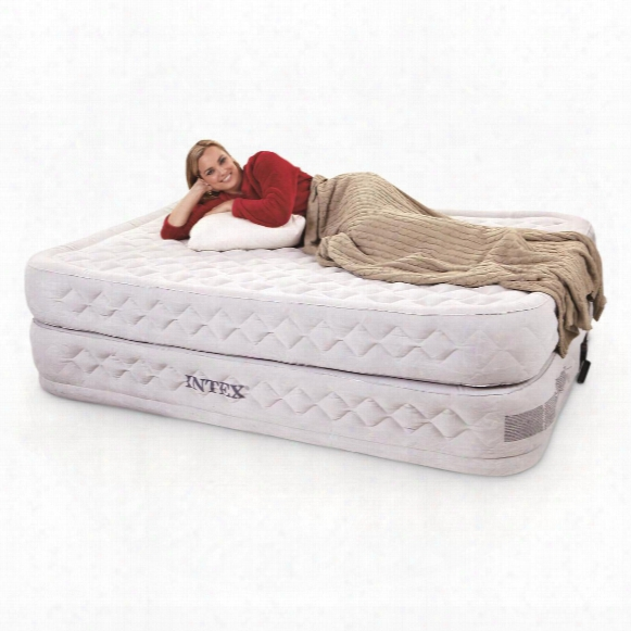 Intex Supreme Air-flow Queen Air Mattress With Built-in Electric Pump