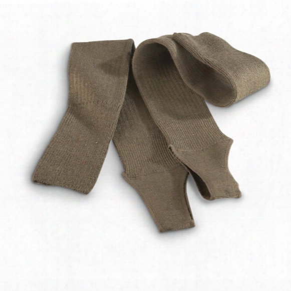 Italian Military Issue Wool Calf Warmers, 10 Pack, New