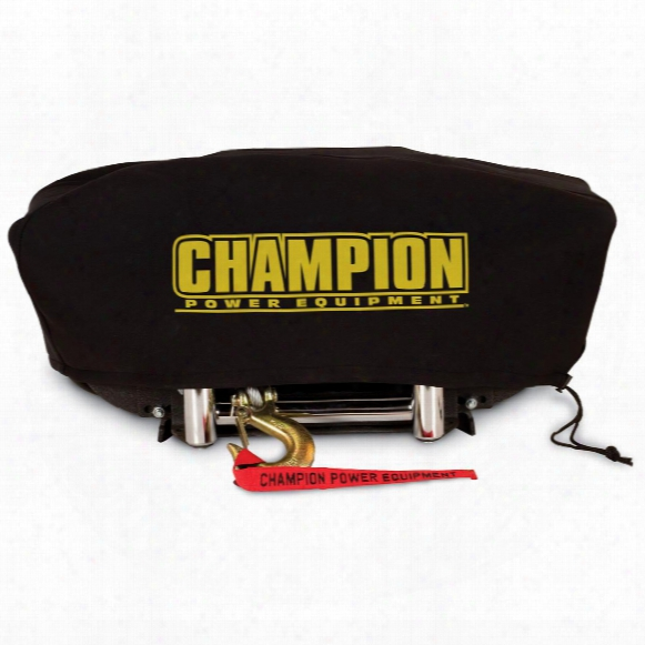 Large Neoprene Winch Cover From Champion Power Equipment, Winches With Speed Mount Hitch Adapter