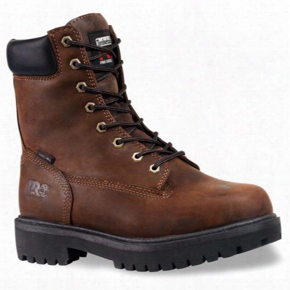 """Men's 8"""" Timberland Pro® 400-gram Thermolite® Insulated Waterproof Direct-attach Boots, Brown"""
