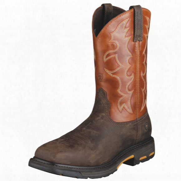 "Men's Ar Iat 13"" Workhog Square Steel Toe Boots, Dar Kearth"