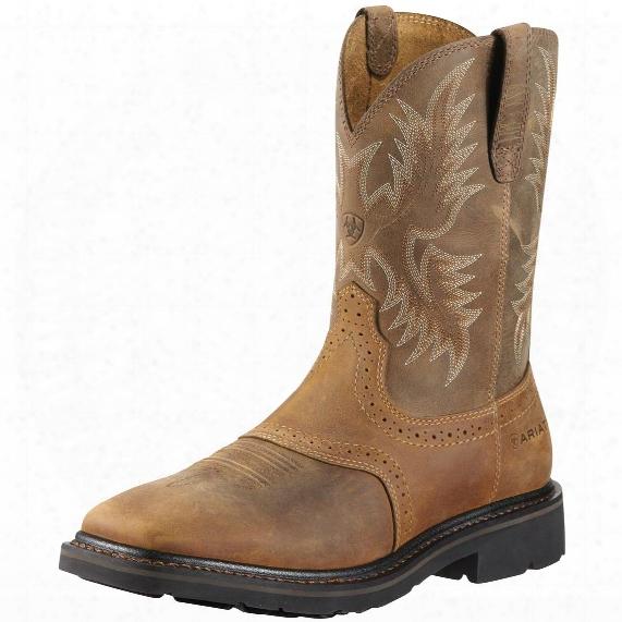 "Men&amp ;#39;s Ariat® 10"" Sierra Wide Square Steel Toe Cowboy Boots"