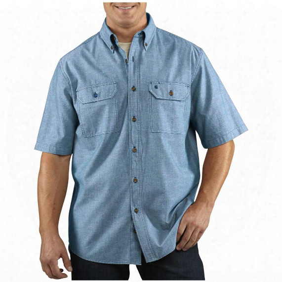 Men's Carhartt® Short-sleeve Chambray Work Shirt