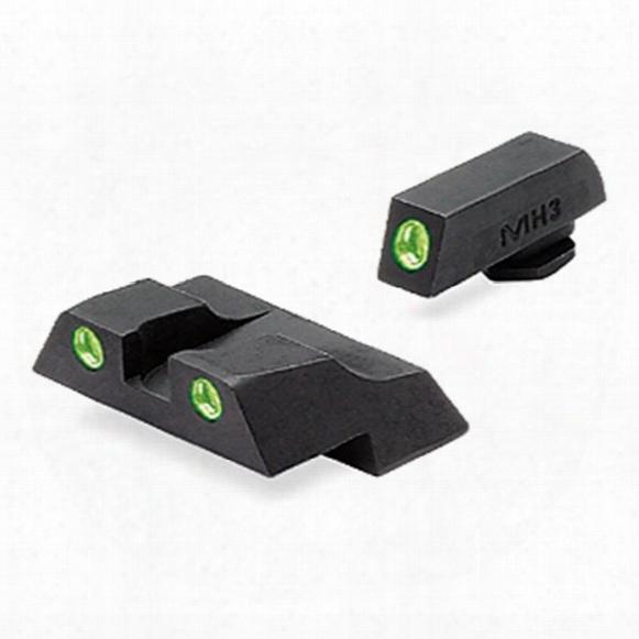 Meprolight® Tru - Dot® Ml - 10226 Fixed Front / Rear Sights For Glock 26 & 27