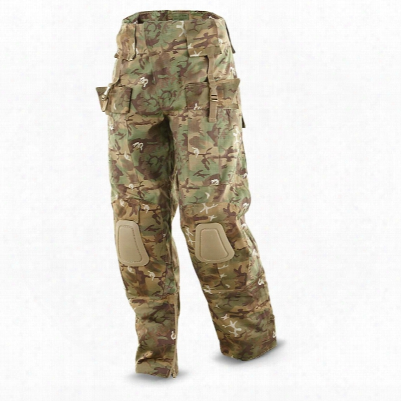 Mil-tec Men's Military Surplus Arid Camo Warrior Pants, Woodland